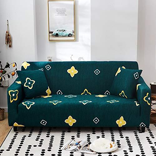 PPMP Funda de sofá elástica con patrón geométrico Fundas de sofá Todo Incluido elásticas para Sala de Estar Fundas de sofá Fundas de sofá A16 4 plazas