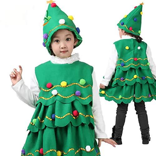 Der Weihnachtsbaum der Kinder, der oben Abendkleid Kostüm, Weihnachtsbaum Leistungs Tanz Kleidung der Kinder - Weihnachtskind Geschenke ankleidet 120cm