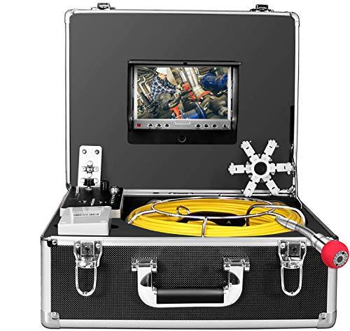 Endoskopkamera Endoskop Inspektionskamera, Kanal Rohr-Industrie Endoskop mit DVR-Recorder, wasserdichtes drahtloses IP68-Endoskop 50m mit 7-Zoll-LCD-Monitor 1000TVL (8 GB SD-Karte, einschließlich)