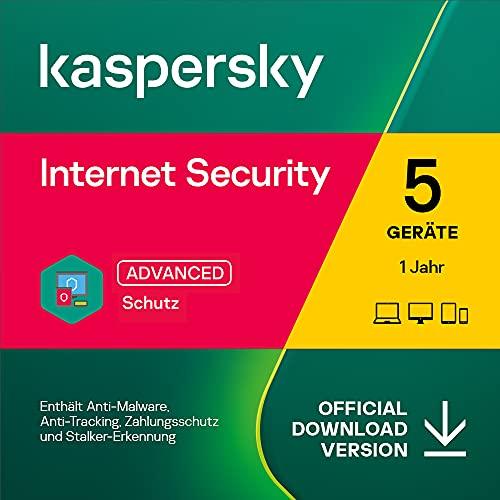 Kaspersky Internet Security 2021 | 5 Geräte | 1 Jahr | Windows/Mac/Android | Aktivierungscode per Email