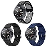 YPSNH Sport Bands for Samsung Galaxy Watch 3 45mm/Galaxy Watch 46mm, 22mm Quick Relese Replacement Wristband Breathable Sport Strap Men Women for Galaxy S3/TicWatch Pro (3P-1, 22mm)