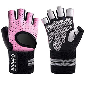 SIMARI Workout Gloves Mens and Women Weight Lifting Gloves with Wrist Support for Gym Training Full Palm Protection for Fitness Weightlifting Exercise Hanging Pull ups