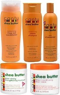 Cantu Shea Butter 5-delige set (schampo, balsam, stark växande behandling, olie-vochtinbrengende crème en leave-in balsam)
