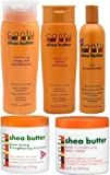 Cantu Shea Butter 5pcs Set (Shampoo, Conditioner, Grow Strong Strengthening Treatment, Oil Moisturizer, and Leave in Conditioner)