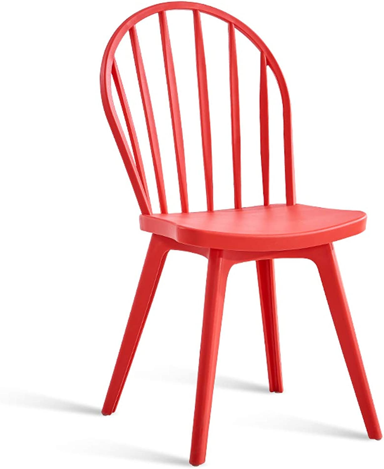 LRW Modern Minimalist Restaurant Home Dining Chair Adult Back Chair Nordic Creative Fashion Back Stool, Red