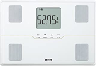タニタ 体重 体組成計 50g ホワイト BC-315 WH 自動認識機能付き/立掛け収納OK