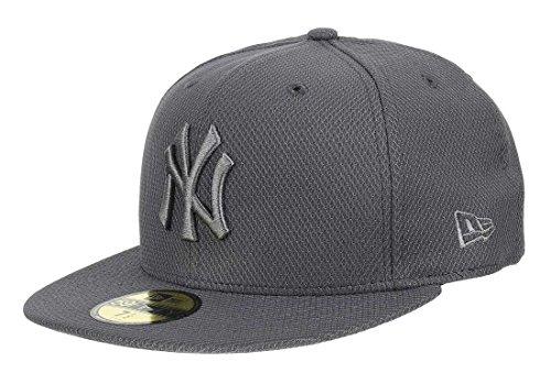 New Era New York Yankees MLB Diamond Era Essential Grey 59Fifty Basecap - 7 1/2-60cm (XL)
