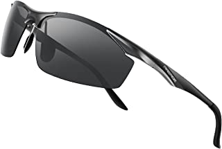 Men's Polarized Sports Sunglasses for men Driving Cycling Fishing Golf Running Metal..