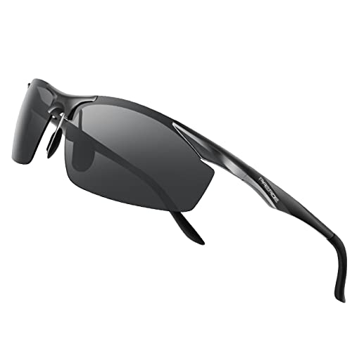 c729075f2ada PAERDE Men s Polarized Sports Sunglasses for men Driving Cycling Fishing  Golf Running Metal Frame Sun Glasses