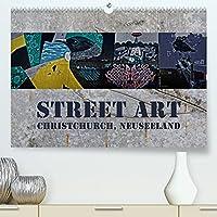 Street Art - Christchurch, Neuseeland (Premium, hochwertiger DIN A2 Wandkalender 2022, Kunstdruck in Hochglanz): Farbenpraechtige Impressionen moderner Kunstwerke (Monatskalender, 14 Seiten )