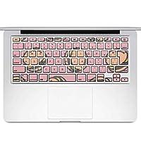 igsticker MacBook Air 13inch 2010 ~ 2017 専用 キーボード用スキンシール キートップ ステッカー A1466 A1369 Apple マックブック エア ノートパソコン アクセサリー 保護 012905 ハンバーガー 食べ物 ポップ