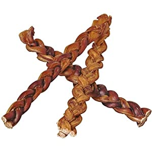 12″ Braided Bully Sticks for Dogs (50 Pack) – Natural Bulk Dog Dental Treats & Healthy Chews, Chemical Free, 12 inch Best Low Odor Pizzle Stix