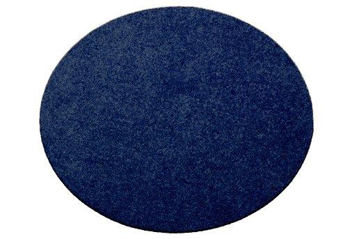 Deko-Matten-Shop Fußmatte Classic, Schmutzfangmatte, rund, 40 cm Durchmesser, dunkelblau, in 9 Größen und 11 Farben
