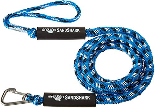 Stretches 7-14ft Premium Anchor Bungee Dock Line. Absorbs Shock to Anchors and Docks w/Stainless Steel Clip. Designed for SandShark Anchors.
