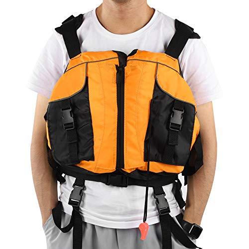 Wandisy Chaleco de protección para canotaje, tamaño Libre, Naranja, cómodo, cómodo Chaleco para Bote para jóvenes, Pesca en el mar para Kayak, Surf, Vela, Bote a la Deriva