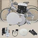 Ambiente 50cc 2 tiempos pedal ciclo gasolina gas motor bicicleta conversión kit para bicicleta motorizada plata