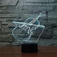 3D常夜灯イリュージョンライト7色バリエーション3Dファントムライト(ヴァイオリン)