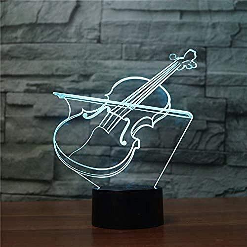 YOUPING Luz nocturna 3D ilusión luz 7 variantes de color 3D Phantom Light (violín)