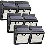 Solar Lights Outdoor [150LED-6 Pack],Super Bright IP65 Waterproof Wireless Solar Motion Sensor Lights