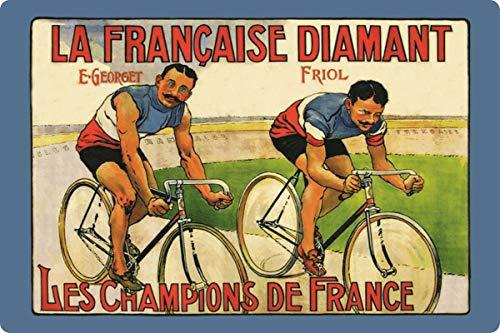 Targa in Metallo generica 30 x 20 cm La Francaise Diamant Georget Friol Rad Rennen Targa in Metallo