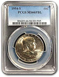 1954 S Franklin Half Dollar MS-66 PCGS (FBL) Half Dollar MS-66 PCGS