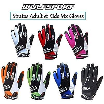 Wulfsport Black//Green motocross Adult gloves size Medium motorbike mx l MTB