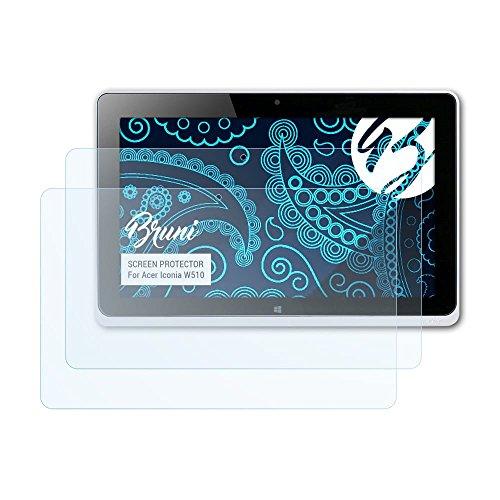 Bruni Schutzfolie kompatibel mit Acer Iconia W510 Folie, glasklare Displayschutzfolie (2X)
