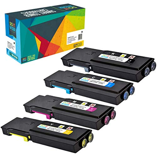 Do it wiser Compatible Toner Cartridge Replacement for Dell C3760 C3760n C3760dn C3765dnf (4-Pack)