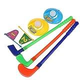 OFKPO Niños Golfista Plástico Juguete Golf Set,Set de Golf de Plastico Caddy