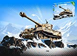 Italeri Kit DE Montaje Compatible con World of Tanks PZKPFW.Vi Tiger I Kit 1:72 IT34103