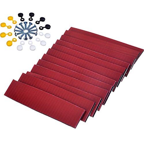 Doppelseitige Klebrige Pads mit Schrauben und Kappen für Nummernschilder Auto Lizenzplatten Befestigung Kit, 12 Set