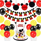 Decoraciones de cumpleaños de Mickey Mouse, bolas de nido de abeja de Mickey...