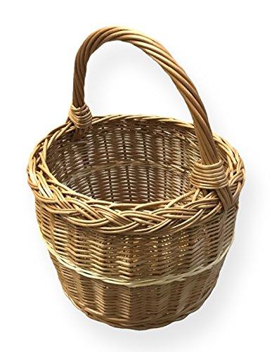 Cestino per la spesa rotonda, marrone, Ø 29 cm x H 22 cm