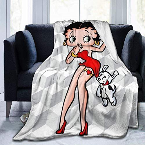 Manta de franela Betty Boop para cama, sofá, sala de estar, verano