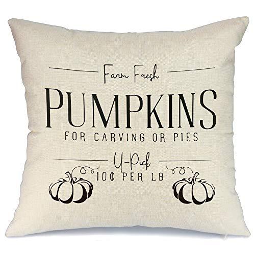 AENEY - Funda de almohada de 18 x 18 cm para decoración de otoño de la granja, decoración otoñal, funda de cojín decorativa para sofá, sofá, decoración de otoño 2009bz18