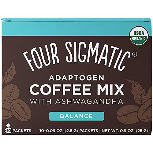 Four Sigmatic Adaptogen Coffee, Organic Medium Roast Instant Coffee with...