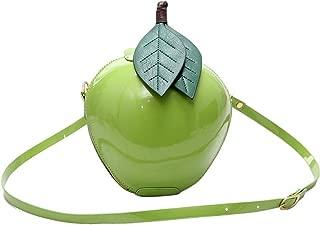 Fruit Apple Pineapple Strawberry Watermelon Shape Women PU Leather Clutch Purse Cross Body Bag