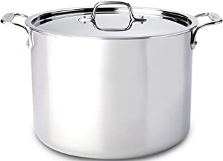 All-Clad 4512 Stainless Steel Tri-Ply Bonded Dishwasher Safe Stockpot with Lid / Cookware, 12-Quart, Silver