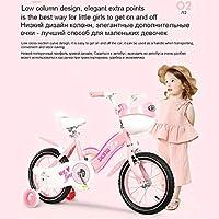 ストリームライン スチール製フレーム 子供用自転車 トレーニングホイール、キックスタンド付き18インチ子供自転車、幼児自転車、ブルー、フクシアと2-9歳12 14 16 18インチキッズ自転車のための女の子のバイク (Size : 16inch)