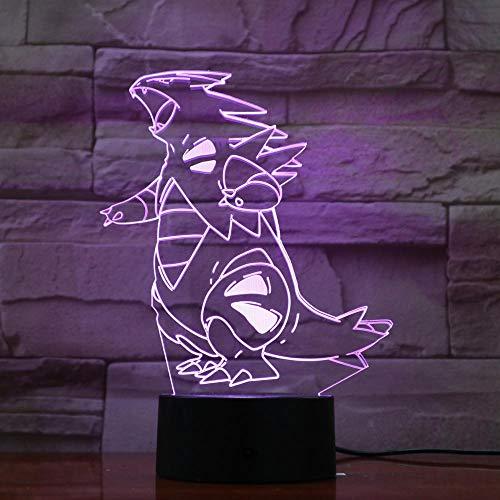 Solo 1 pieza Lámpara de noche de dibujos animados Go Tyranitar Led Night Light para niños Regalo de cumpleaños Usb Led Lamp Child Tyranitar