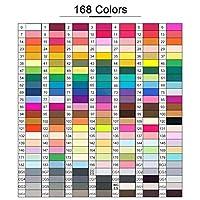 Vioaplem 30/40/60/80/168色アートマーカーデュアルヒントアルコールグラフィックツインマーカーペン 水彩マーカー (Color : Black 40 Colors)