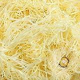 1 kg de papel de seda kraft triturado cremoso grande para rellenar cestas de regalo de Navidad de Pascua amarillo