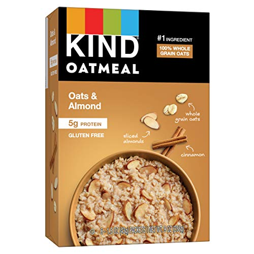 KIND Oatmeal, Oats & Almond, Gluten Free, Low Sugar, Individual Packets, 30 Count