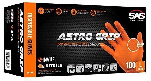 Astro Grip Powder-free Nitrile Disposable Glove, Xl, Full Case (10 Boxes of 100)