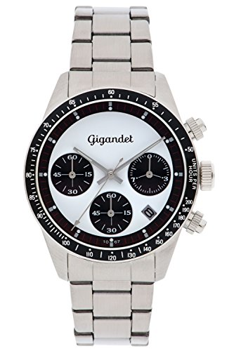 Gigandet G5-007 - Reloj para Hombres, Correa de Acero Inoxidable Color Plateado