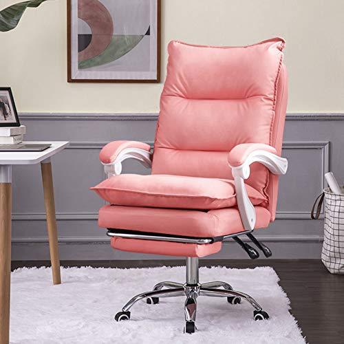 FWNT Executive Office Computer Schreibtischstühle, bequemer ergonomischer Drehstuhl mit hoher Rückenlehne Home Pu Lederarbeit Chaise (Multiple Color)