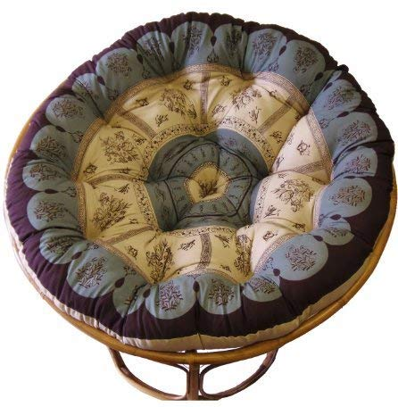 Cotton Craft Overstuffed Round Papasan Cushion,...