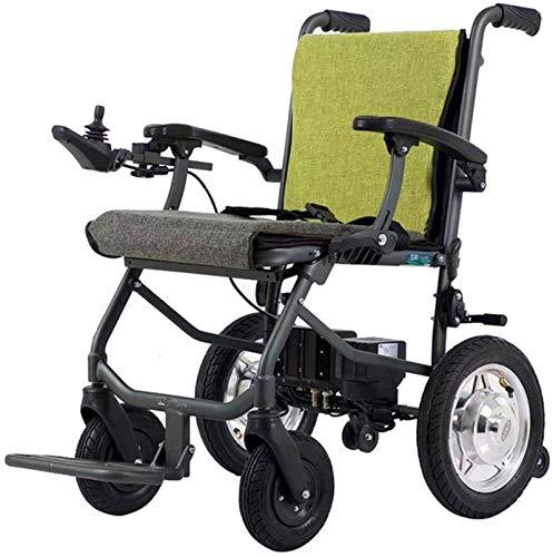 Silla de Ruedas eléctrica Plegable, Silla de ruedas, silla de ruedas 2020 es batería de litio ultra ligera se puede plegar rápidamente se puede llevar a la discapacidad en silla de ruedas Silla de rue
