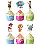 24x Cupcake Topper Picks (Paw Patrol)
