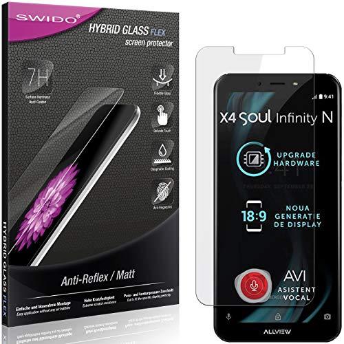 SWIDO Panzerglas Schutzfolie kompatibel mit Allview X4 Soul Infinity N Bildschirmschutz Folie & Glas = biegsames HYBRIDGLAS, splitterfrei, MATT, Anti-Reflex - entspiegelnd